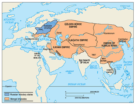 Important maps eastern europe and russia ap world history p2 khanate divisions in the mongol empire myhistorylab sciox Choice Image